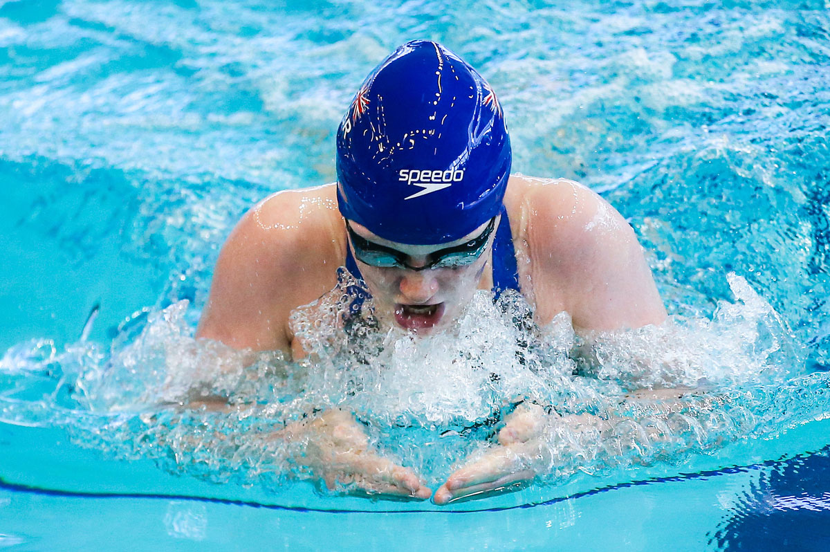 Abbie Wood swimming breaststroke