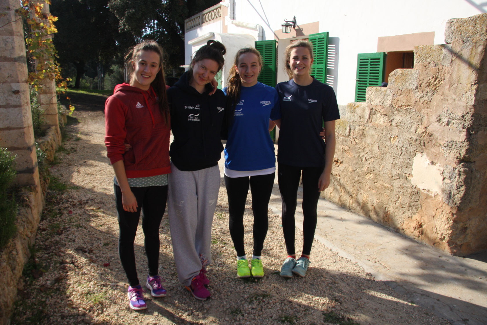Katie Clark, Olivia Federici, Jodie Cowie and Genevieve Randall
